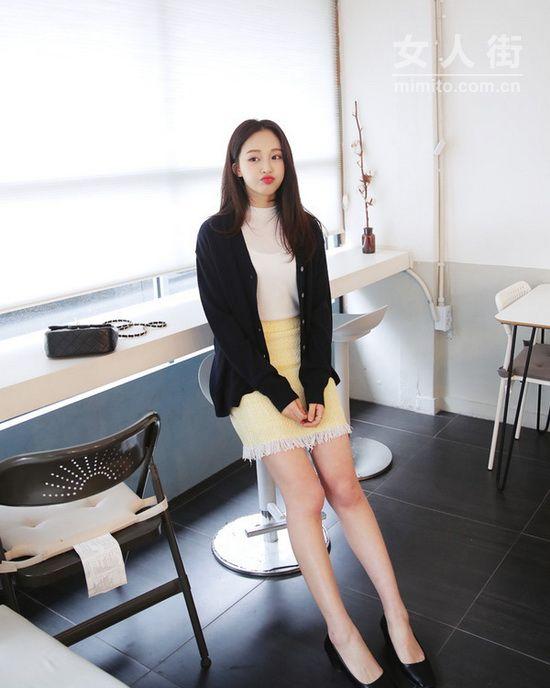 逆天长腿,矮个女生穿裙子显高示范